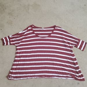AG dolman sleeve oversized striped top